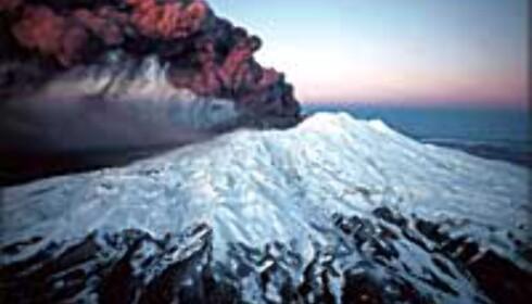 Dramatisk landskap: På Nordøya er det flere vulkaner og en av dem er aktiv: Mount Ruapehu.  Foto: Ruapehu Alpine Lifts Ltd.