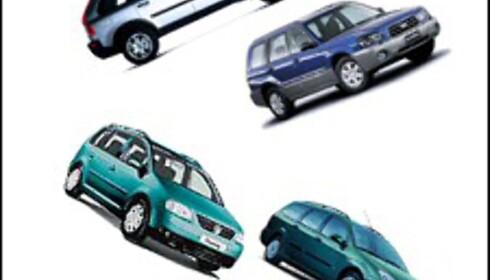 Volvo og Subaru frem, VW og Ford tilbake