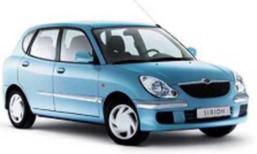 MISFORNØYD: Daihatsu-forhandlerne har aller minst tro på egen produktrekke. Her en Daihatsu Sirion.