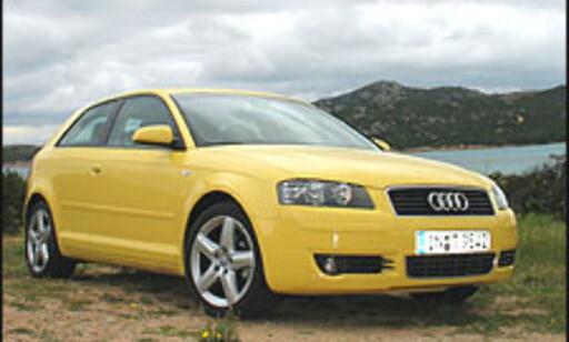 STORFORNØYD: Audi-forhandlerne er kjempefornøyd med sin produktrekke. Her en Audi A3.