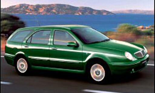 782 I NORGE: Lancia tas ikke lenger inn til Norge, men det italienske merket, som eies av Fiat, selges i de fleste andre europeiske land. Her en Lancia Lybra.