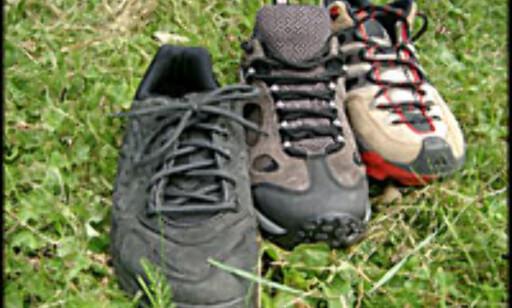 Vi tester skoene i byen og i marka. Duger de?