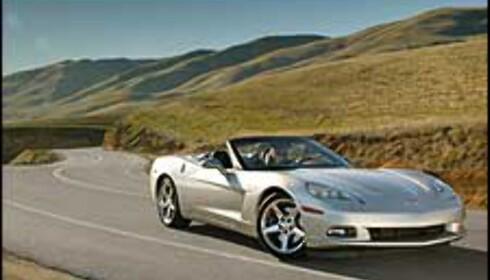 Corvette roadster med dynamitt-motor