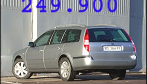 POPULÆR STASJONSVOGNKJEMPE: Ford Mondeo stasjonsvogn er blant modellene som finnes i en rekke businessutgaver.