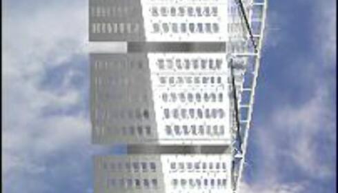 Pressebilde av fasaden: Samark Arkitektur AB  Kilde: Turningtorso.com