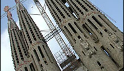 Antoni Gaudís stadig ufullendte verk, Temple de Sagrada Familia.  Foto: Inga Ragnhild Holst Foto: Inga Ragnhild Holst