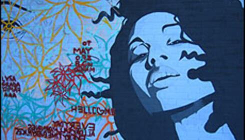 Veggmaleri i arbeiderbydelen Barceloneta.  Foto: Inga Ragnhild Holst Foto: Inga R. Holst