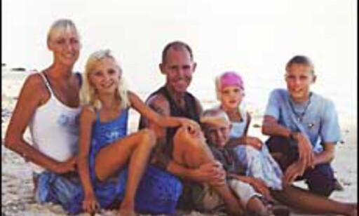 Familien Haugland på Rarotonga. Foto: Privat Foto: Haugland privat