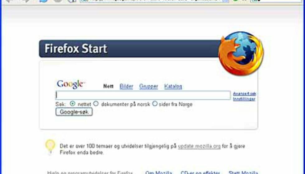 Firefox 1.0 utfordrer Internet Explorer