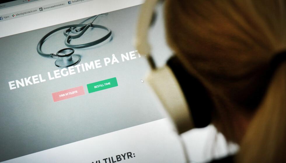 LEGE PÅ NETT: Videokonsultasjon med lege blir stadig mer vanlig. Men fraværsattest via nettet er en nyskapning som har kommet i kjølvannet av de nye fraværsreglene i videreående skole. Foto: Ole Petter B. Stokke