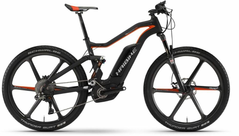 EURO-GLIS: Sykler som denne til nærmere 140.000 trekker opp gjennomsnittsprisen. (FOTO: HAIBIKE)