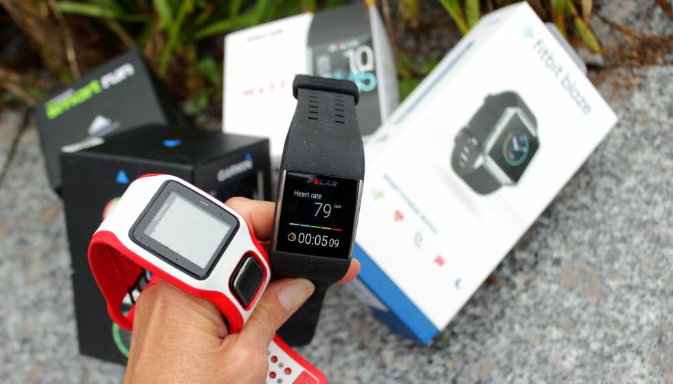 HVILKEN PULSKLOKKE ER BEST? Hva trenger du egentlig i en treningsklokke? Både puls og GPS kan være gode ting, ifølge ekspertene. Foto: Kristin Sørdal