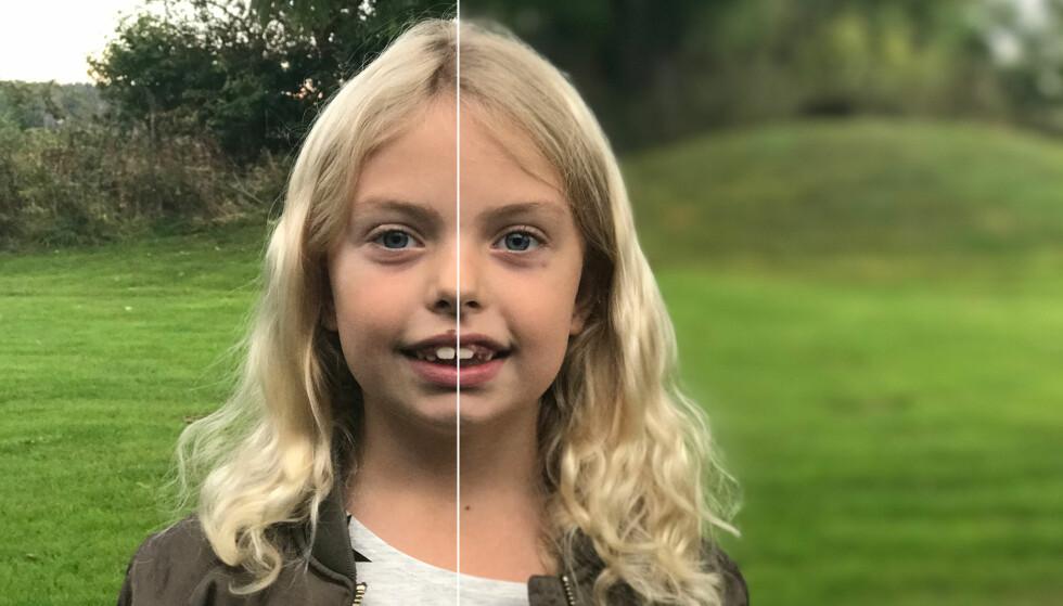 USKARP BAKGRUNN: Den nye portrettfunksjonen på iPhone 7 Plus gir nesten litt speilrefleks-følelse. Foto: Pål Joakim Pollen