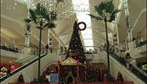 Julepyntet handlesenter i Cairns. Foto: Sindre Storvoll