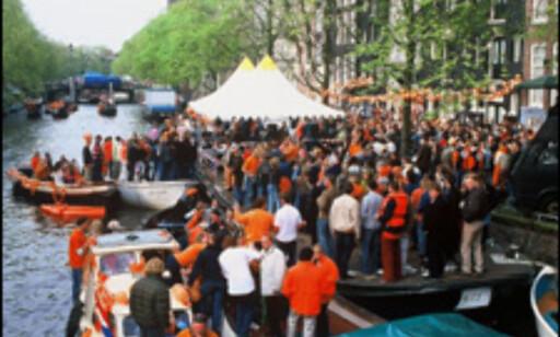 På Dronningens bursdag feires det i hele Amsterdam. Foto: Visit Holland Foto: Visit Holland