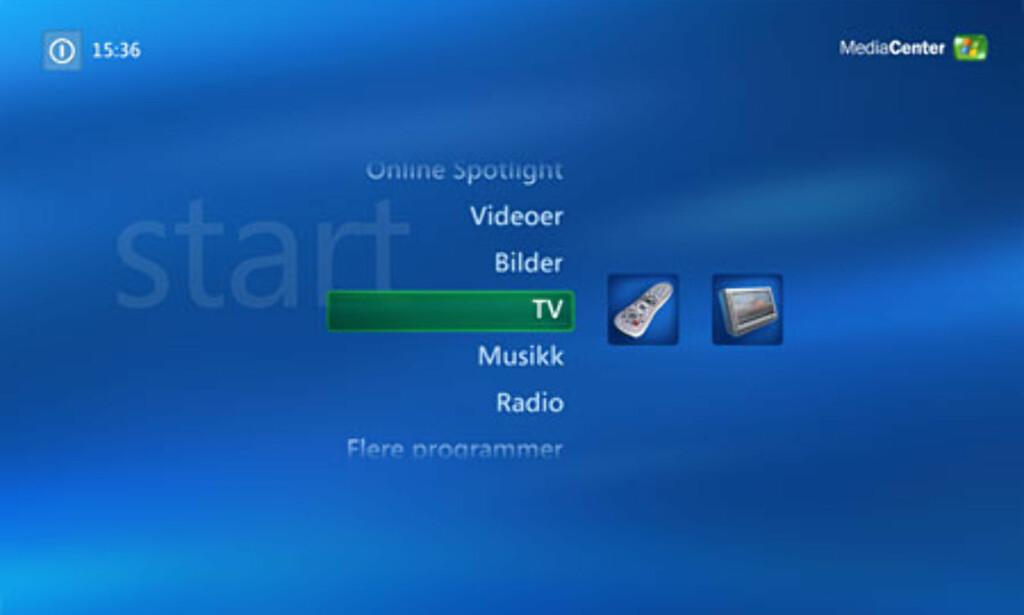 image: Norsk Windows Media Center Edition