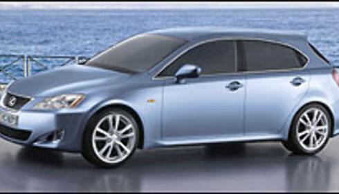 Kompakt Lexus - bildet er manipulert