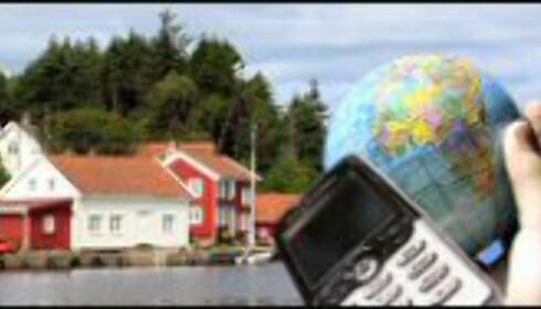 Uten internett på hytta? Ring opp Skype fra mobilen. Fotomontasje: C. Ursin/McNally/Smith/Van Dobbenburgh.