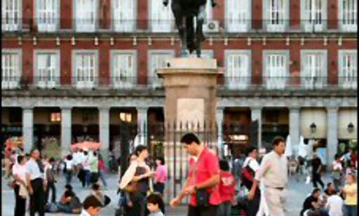 Plaza Mayor midt i byen. Foto: Stine Okkelmo