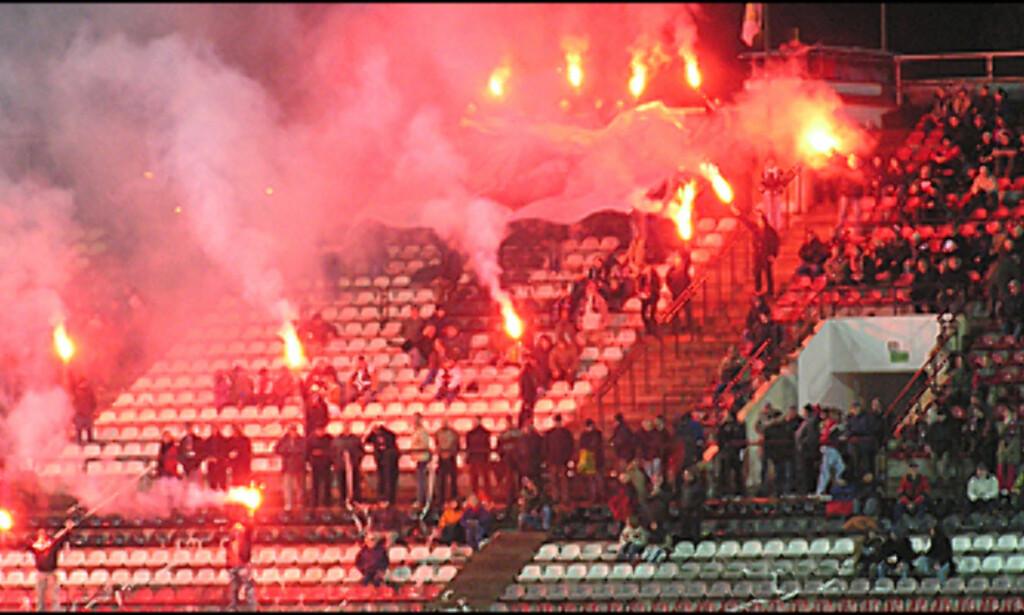 Ivrige supportere. Foto: Michal Zacharzewski