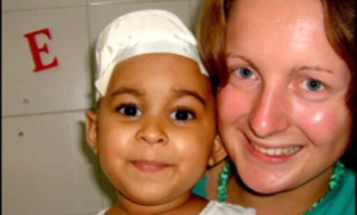 Marthe Parmann hjalp kreftsyke barn i Venezuela. Foto: Privat