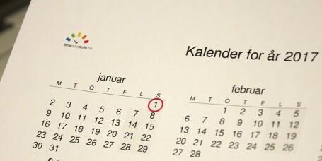 Trenger du å skrive ut en tom kalender?