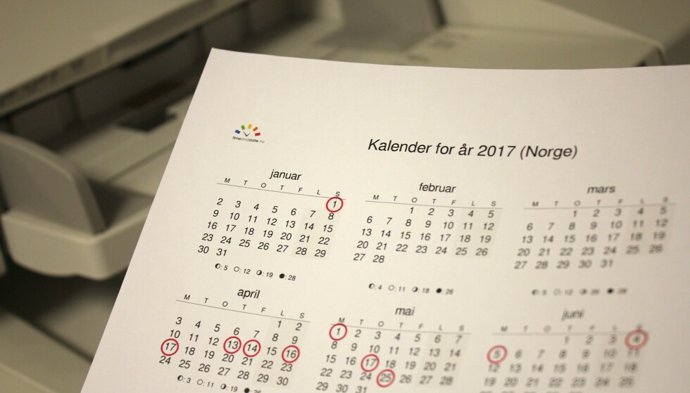 GRATIS KALENDER: Har du en printer hjemme, trenger du ikke bruke annet enn utskriftskostnader på å få deg en fin, tom kalender. Foto: Kirsti Østvang
