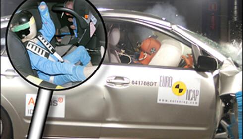 43 POENG: Toyota Prius oppnådde 43 poeng i barnebeskyttelses-testen, den høyeste poengsummen noen bil foreløpig har oppnådd hos Euro NCAP.