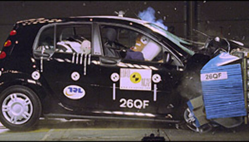 JUMBO: Smart Forfour ble kun tildelt 18 poeng, noe som bare kvalifiserer til to stjerner. Bilen kan dermed ikke sies å egne seg for barnefamilier.