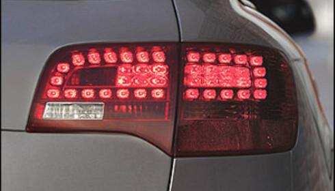 Mange produsenter bruker dioder i baklyktene. Her en Audi A6.