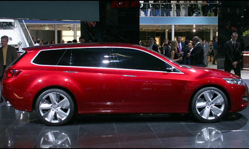 Prototype som varsler kommende Honda Accord.