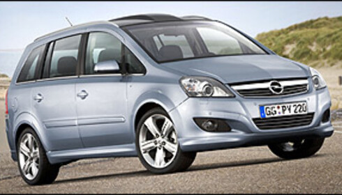 Opel Zafira finpusses