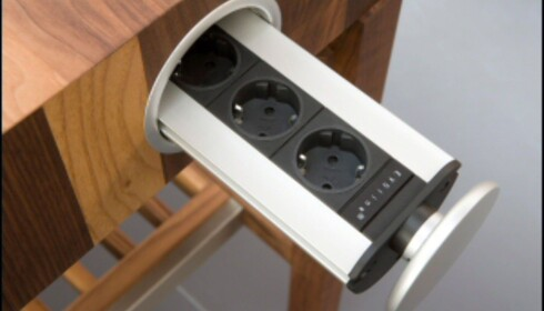 """Smart detalj med skjulte stikkontakter kjøkkenbenken fra Schulte design //www.dinside.no/php/art.php?id=504162"""">>>Flere nyheter"""