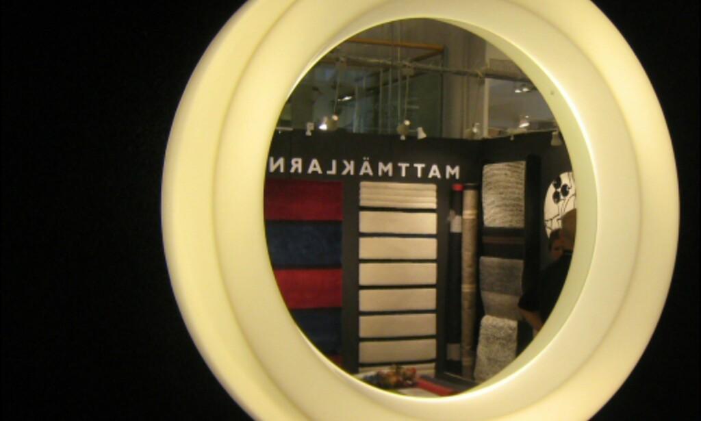Lysende speilramme fra Sture.