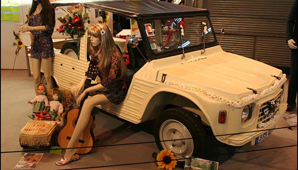 <strong>Flower-Power Citroën:</strong> En Mehari med 2CV-teknologi. En 70-talls favoritt blant fransk ungdom.