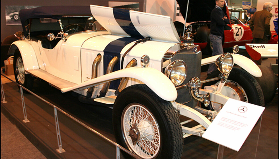 Denne Mercedes S-type fra 1928 har tilhørt Adrian Conan-Doyle, sønnen til skaperen av Sherlock Holmes, racerfører, storviltjeger og oppdagelsesreisende...