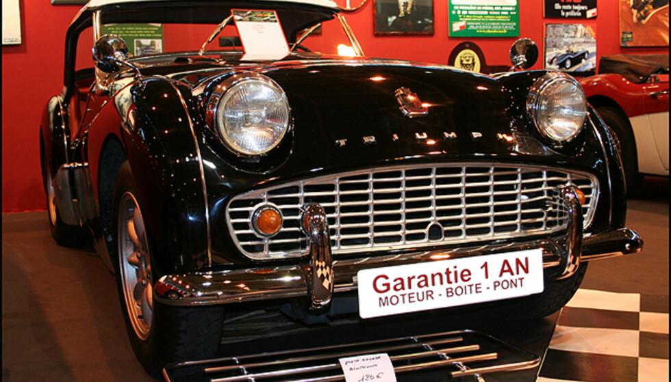 En Triumph som selges med ett års garanti på motor og transmisjon...