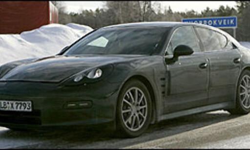 image: Porsche Panamera testes i kulda