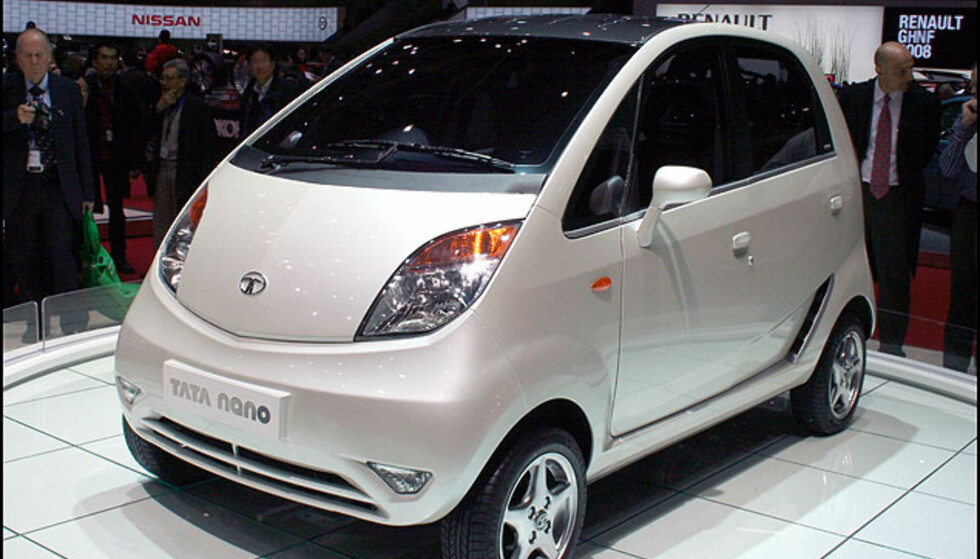 Billig indisk: Tata Nano til under 15.000 kr - i India.