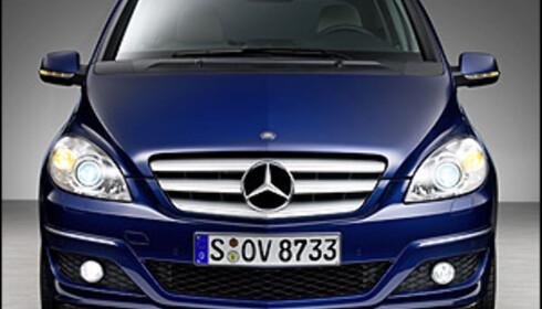 Mercedes B-klasse med oppdatering