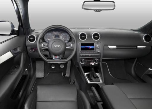 Interiøret i Audi S3 Sportback.