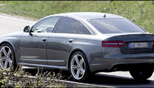 Audi RS6 sedan med ansiktsløfting.