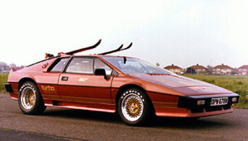 Slik så James Bond-versjonen av Lotus Esprit ut Foto: Lotus