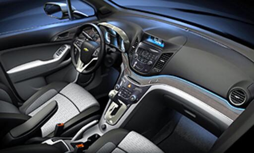 Interiøret virker nær serieproduksjon. Foto: Chevrolet