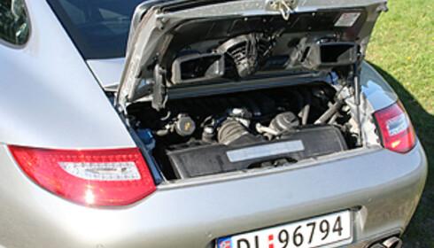 Som for 45 år siden: Motoren ligger her bak. Men det er ikke riktig samme motoren... Foto: Knut Moberg