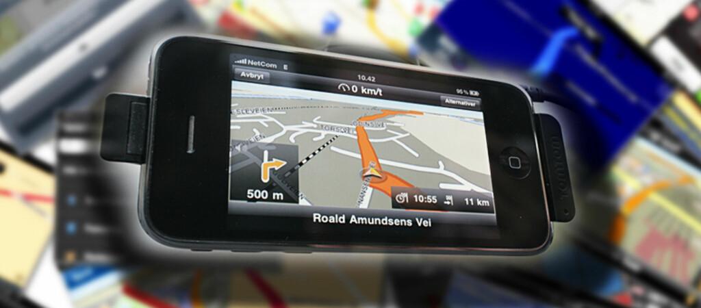 <B>VISER VEI I JUNGELEN:</B> DinSide.no har testet tre iPhone-GPSer, og vinneren er på mange måter ganske overraskende.