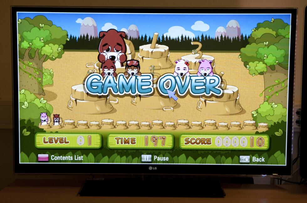 LG: Spill innebygget i TVen Foto: Per Ervland