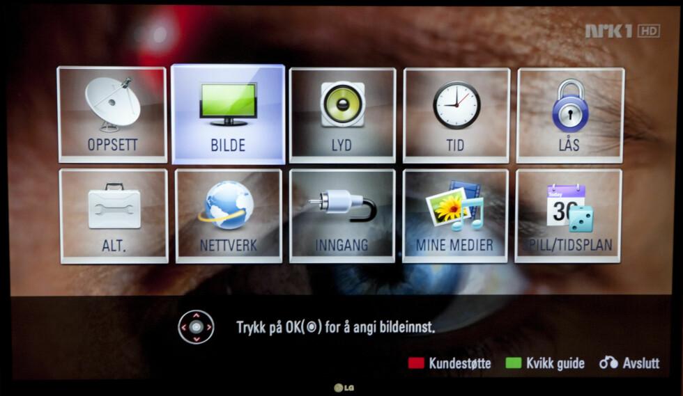 LG-hovedmeny Foto: Per Ervland