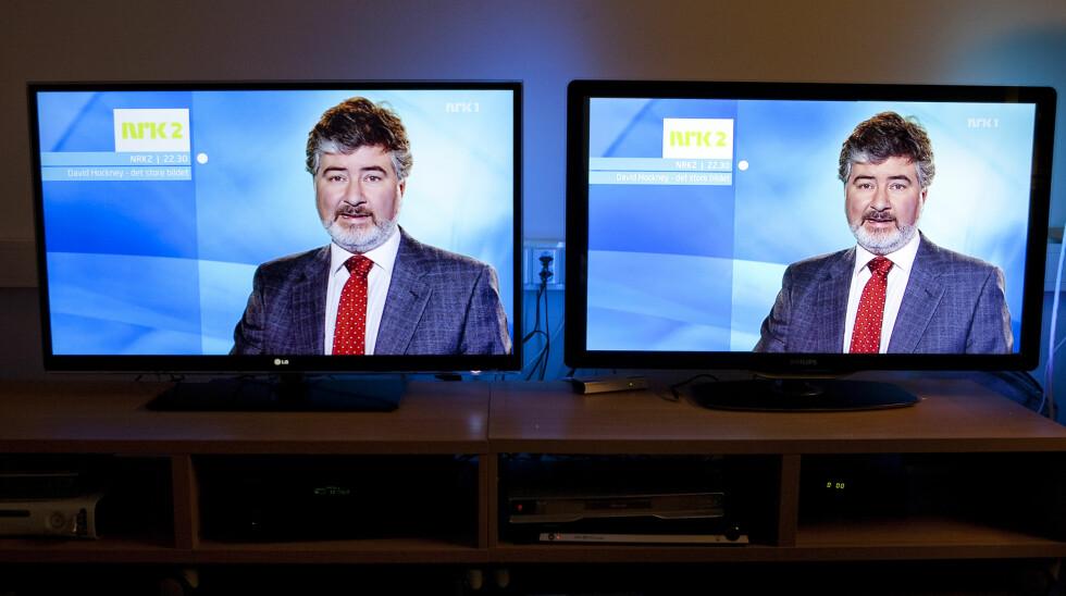 LG til venstre, Philips til høyre. Foto: Per Ervland