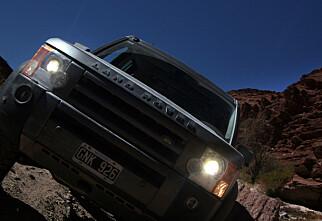 Med surstoff og bil i Andes